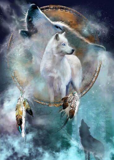 White Wolf King Roar-أحجية الصور المقطوعة الخشبية ، 500 قطعة ، بطاقة بيضاء ، ألعاب تعليمية للأطفال والكبار