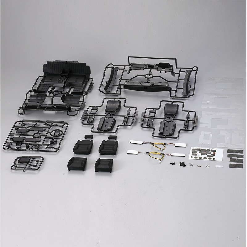 Killerbody 110 rc bodyshell cockpit conjunto (direita & esquerda) apto para toyota land cruiser 70 kit de corpo duro