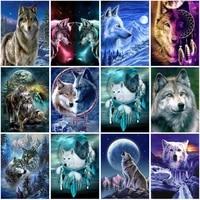 diy wolf 5d diamond painting full square drill rhinestone animal diamond embroidery cross stitch mosaic home decor wall art