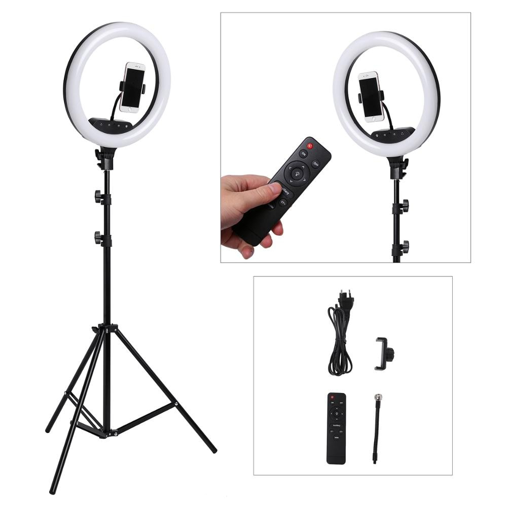 14inch 18inch Remote Touch LED Ring Light Camera Phone Photography Large Ring Lamp With Tripod For shooting makeup video studio