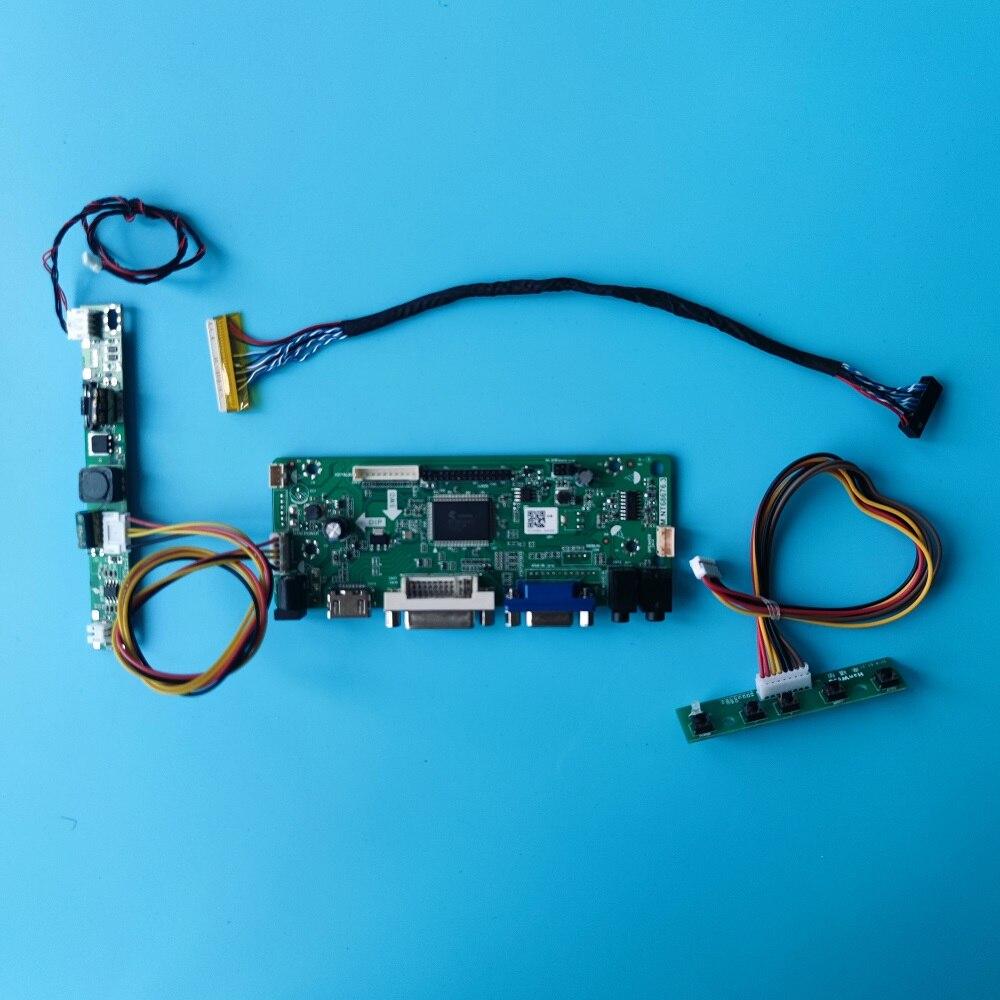 + VGA + LCD + DVI + الصوت تحكم مجلس لوحة للقيادة عدة رصد ل 30pin M185XW01 1366(RGB)× 768 LED لتقوم بها بنفسك لوحة