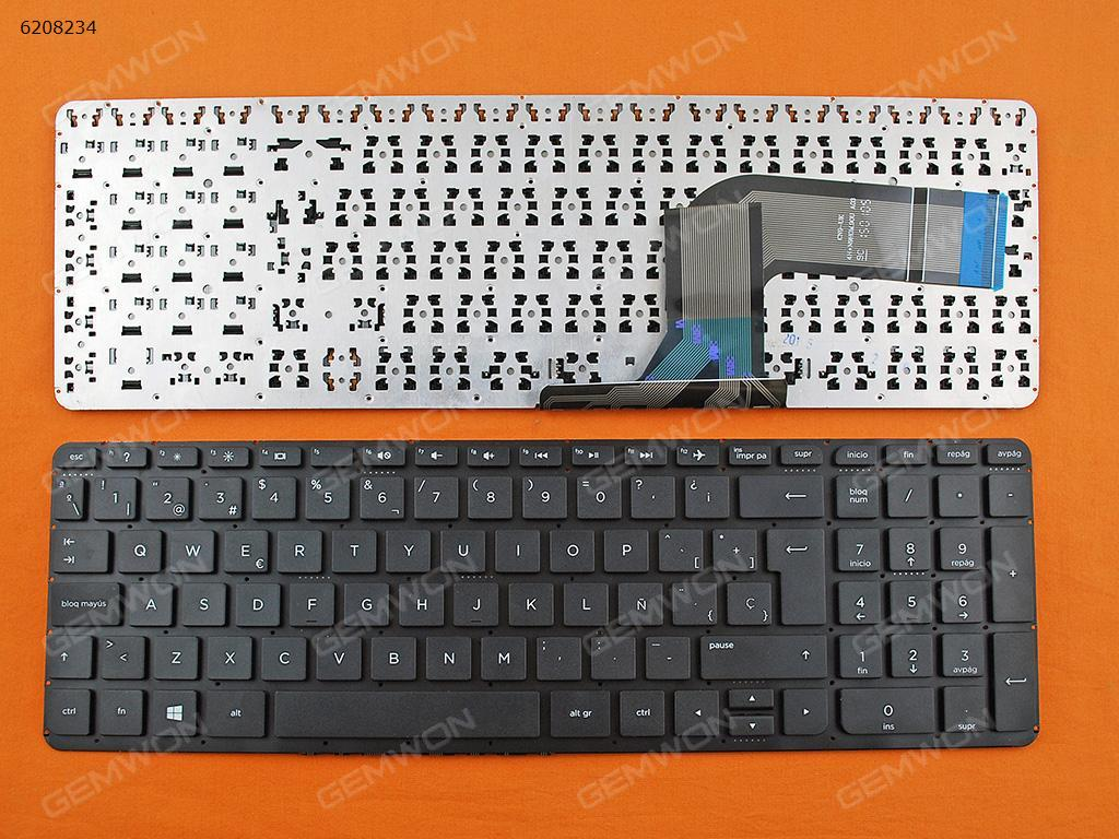 Spanish Keyboard for HP Pavilion 17-f002ns 17-f003ns 17-f004ns 17-f050ns 17-f052ns 17-f252ns 17-f209ns Laptop Black NO Frame
