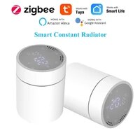 Tuya     radiateur thermostatique intelligent Smart Life ZigBee 3 0  affichage tactile  temperature constante  compatible avec Alexa Google Home  controle