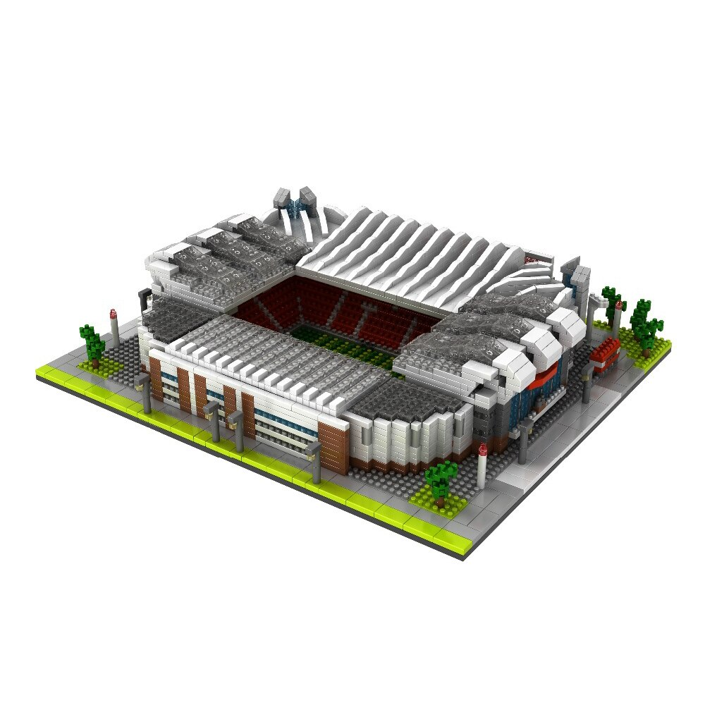 Купить с кэшбэком hot Lepining city classic architecture Manchester UK football Stadiums Old Trafford mini micro Diamond blocks bricks toys gift