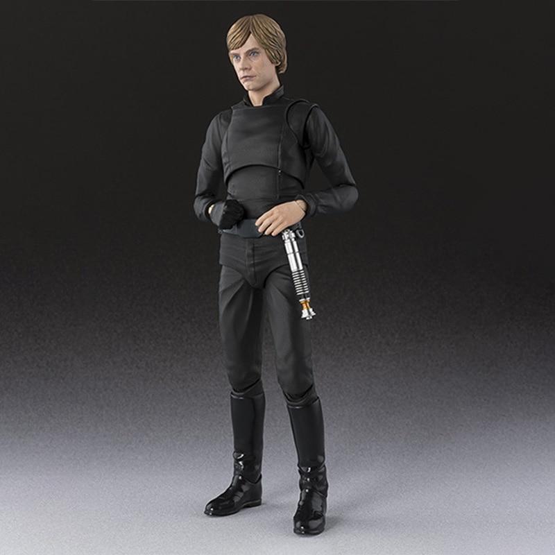 15cm Shf Star Wars Series Sigma Luke Skywalker Action Figure Anakin Black Jedi Joint Movable Children's Doll Toy Christmas Gift