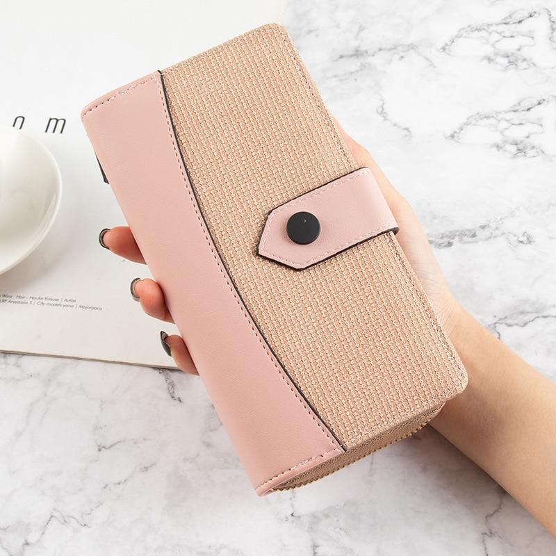 2021 Korean Fashion wallets for women 6 Colors Long Leather Ladies purses Multi Slots Card wallet Zipper billeteras para mujer
