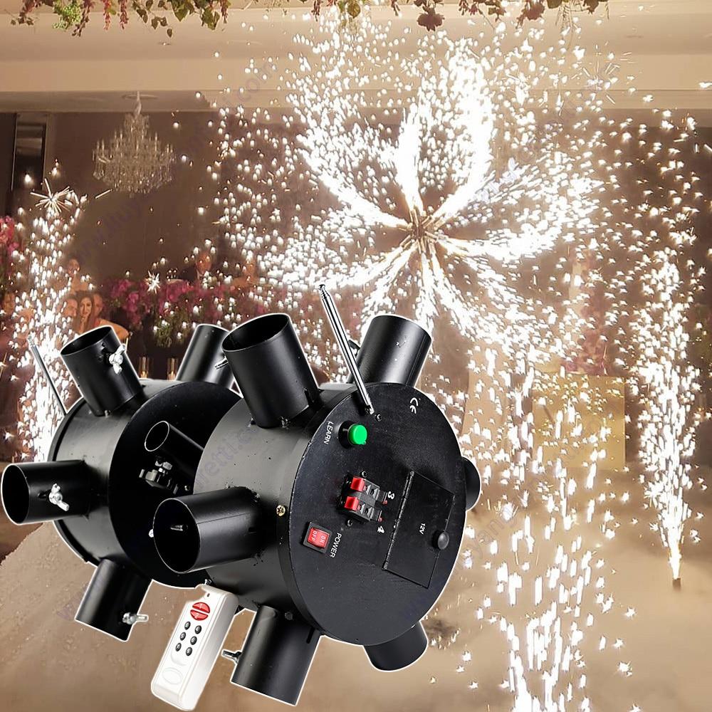 نظام الألعاب النارية في الأماكن المغلقة الباردة Pyro نافورة مرحلة الألعاب النارية حفل زفاف حفلة عيد ميلاد لوازم الديكور يونيكورن FX