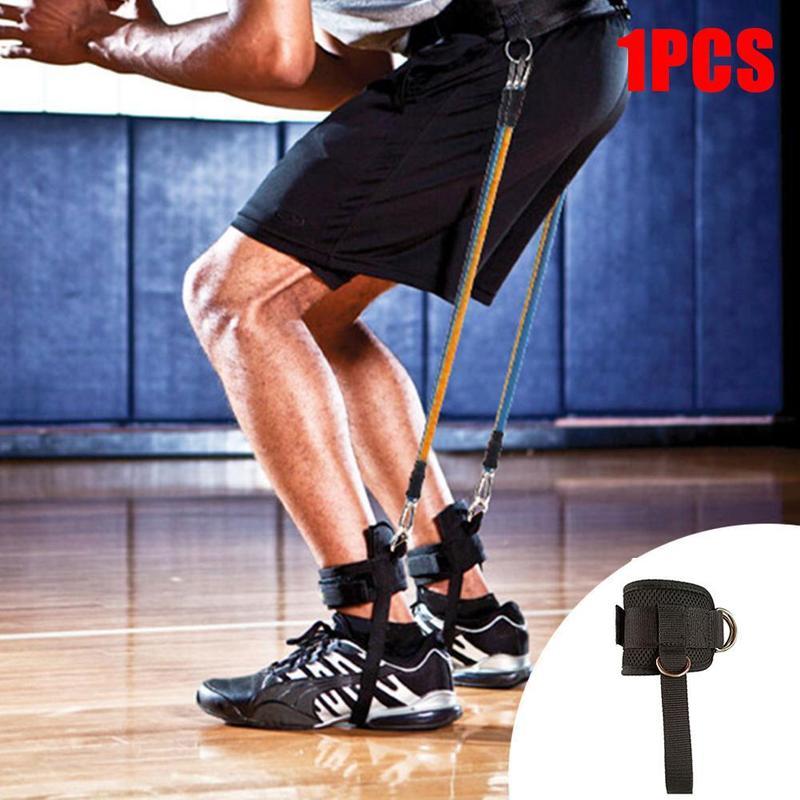 Einstellbare 4 D-Ring Ankle Straps mit Fuß Strap Kabel Maschine Fitness Oberschenkel Glute Übungen Padded Fußfesseln Zubehör