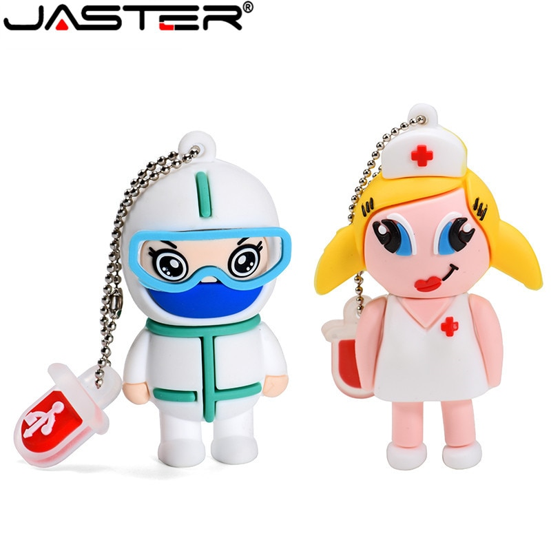 USB флеш-накопитель JASTER Doctor Nurse, USB 2,0, 4 ГБ, 8 ГБ, 16 ГБ, 32 ГБ, 64 ГБ