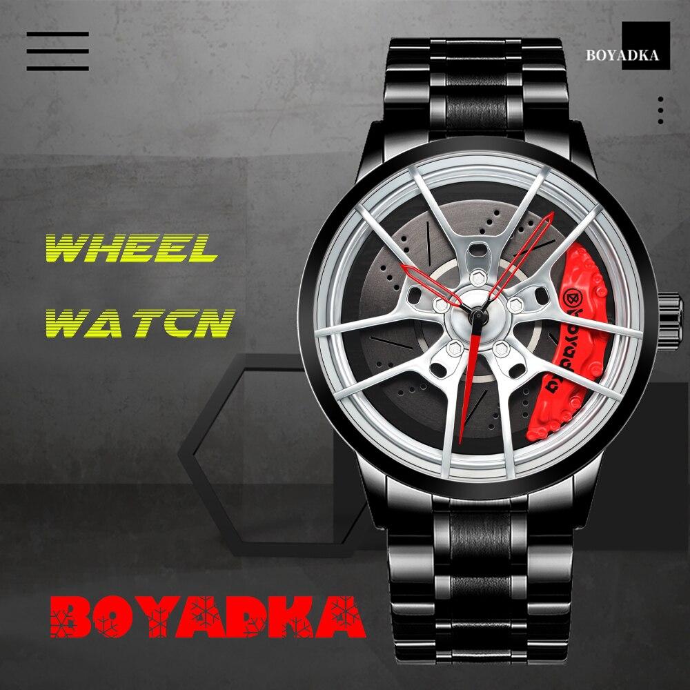 ساعات رجالية ثلاثية الأبعاد فريدة من نوعها ، ساعة رياضية ذات علامة تجارية مشهورة لمحبي السيارات