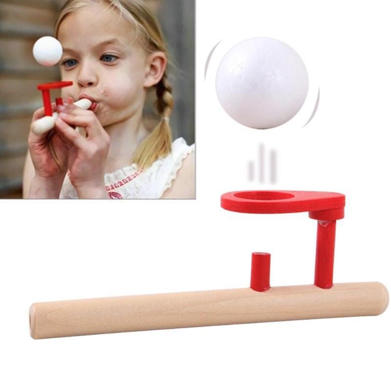 Children Toys Balance Blowing Ball Fun Gadgets Classic Bernoulli Theorem Principle Gadgets Family Foam Ball Floating Game недорого