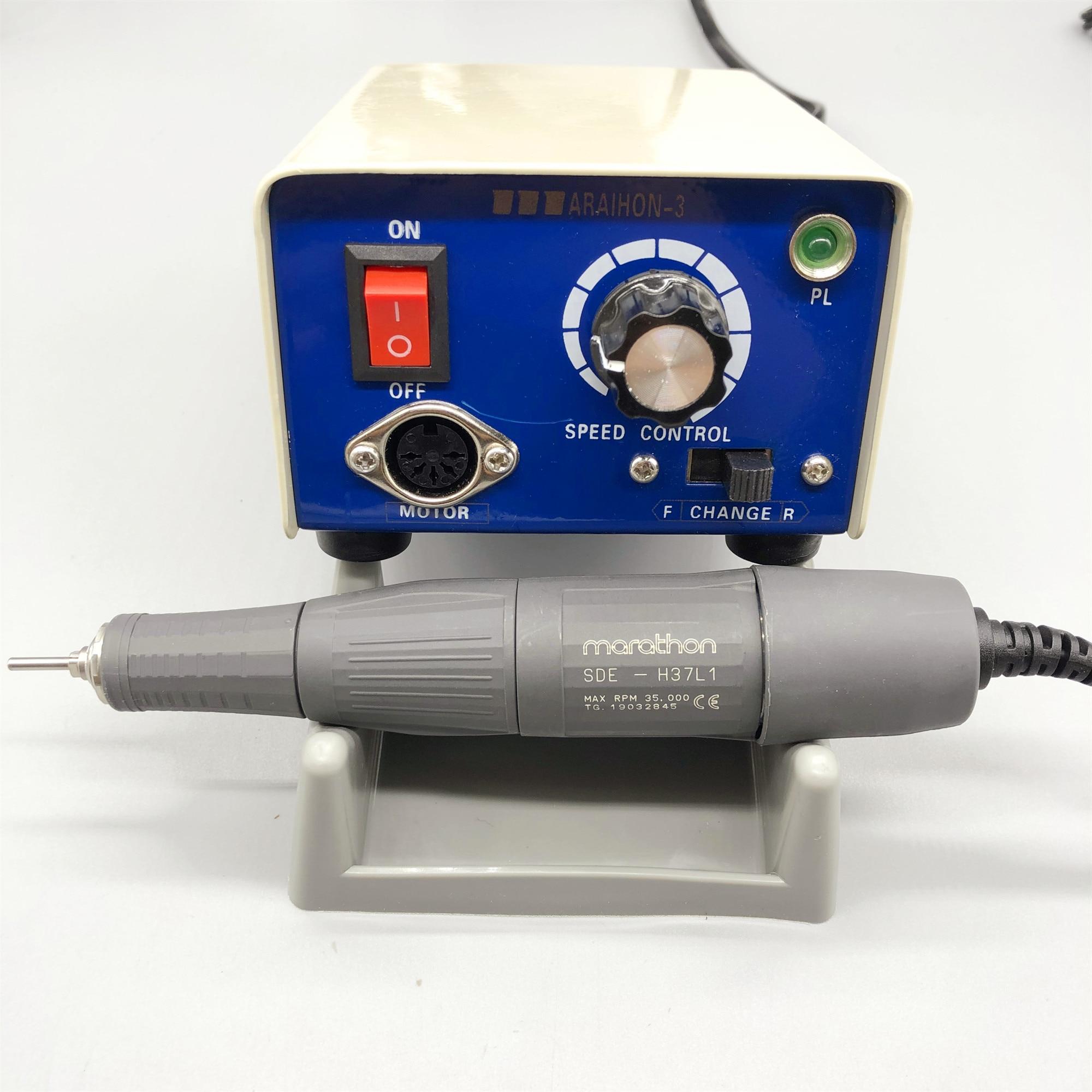 65W 35000 rpm Saeyang Micro Motor de la caja de Control para H37L1 / H35P1 / M33Es Mini pulidor de uñas