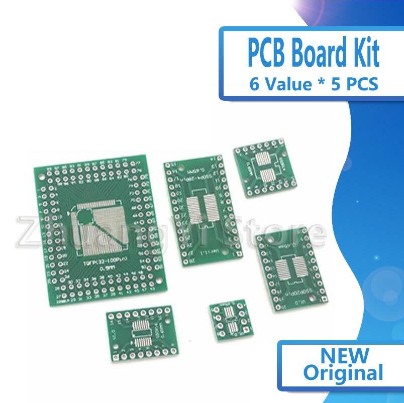Kit de Placa PCB SMD Ligue Para DIP, Adaptador, QFP 32 44...