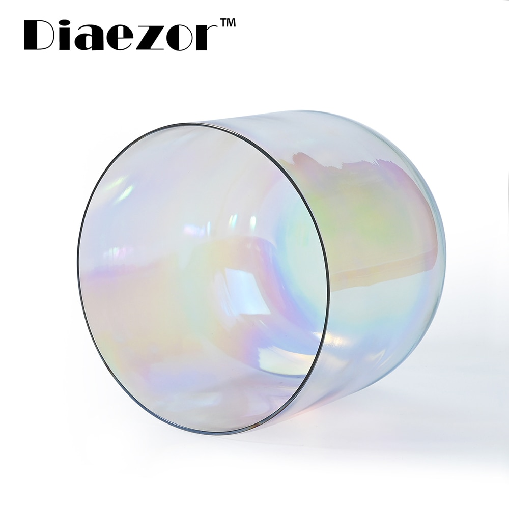 Diaezor 7 Inch 440Hz or 432Hz Cosmic Light Clear Chakra Alchemy magic Gray Quartz Crystal Singing Bowl for Sacred Meditation enlarge