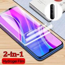 2 IN 1 camera Film + Hydrogel Film for Xiaomi Redmi 9 Explosion-proof Protective Film for Redmi 9 Sc