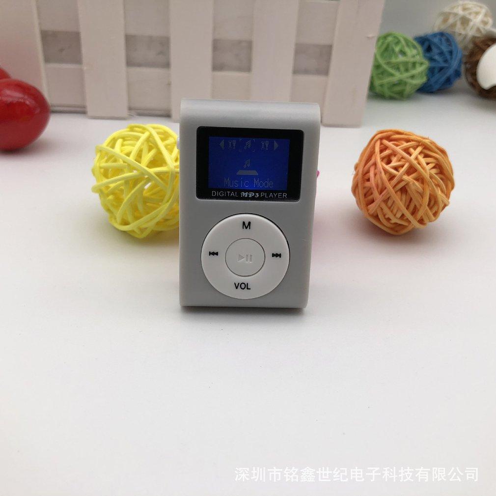 Reproductor de MP3 portátil de tamaño pequeño, Mini pantalla LCD, reproductor de...