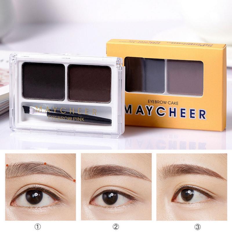 Double Color Eyebrow Powder Cream Professional Makeup Palette Eye Brow Enhancer Eye Brows Shadow Mak