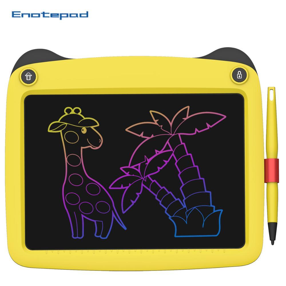 Enotepad 9 Polegada LCD Escrita Tablet de Desenho Tablet proteger os olhos E Dust-livre Cor de Escrita Inteligente Tablet Notas.