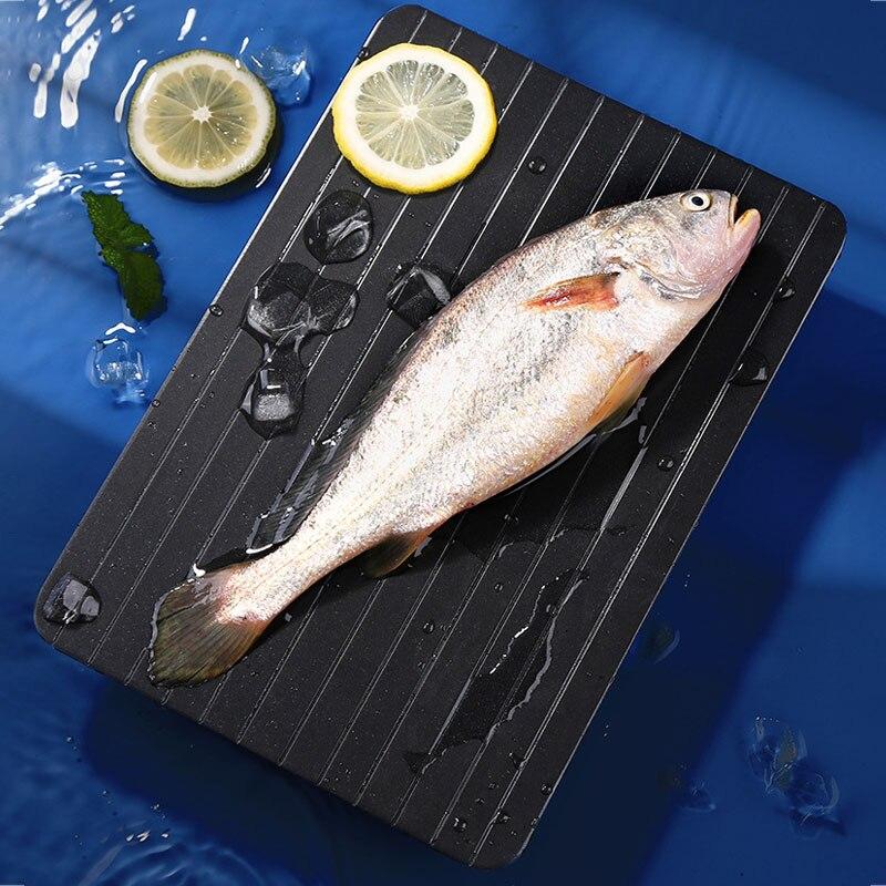 مطبخ ستيك المأكولات البحرية سريعة ذوبان لوحة تذويب سبائك الألومنيوم الغذاء ذوبان لوحة لحم الخنزير اكسسوارات المطبخ الأدوات