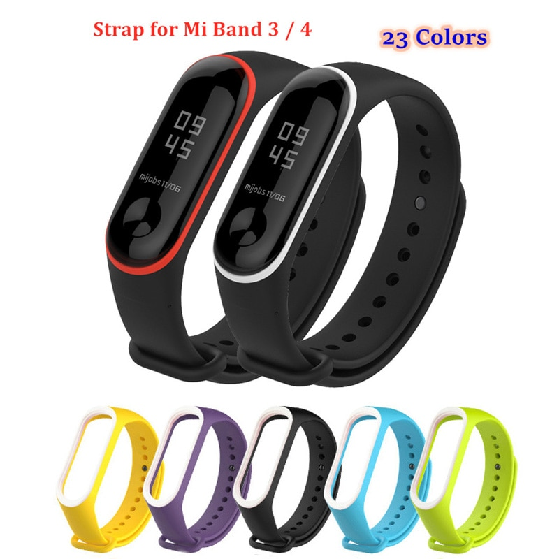 4 chigu double color accessories pulseira miband 2 strap replacement silicone wriststrap for m44258 181018 jia Duoteng Silicone Strap for Xiaomi Mi band 4 3 Strap 22 Colors Soft TPU Replacement Watch Band For Miband 3 Bracelet Wriststrap
