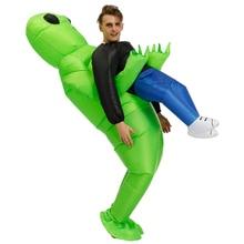 Chaud adulte gonflable vert Alien Cosplay adulte drôle sauter Costume fête déguisement Halloween Costume pour femmes hommes unisexe