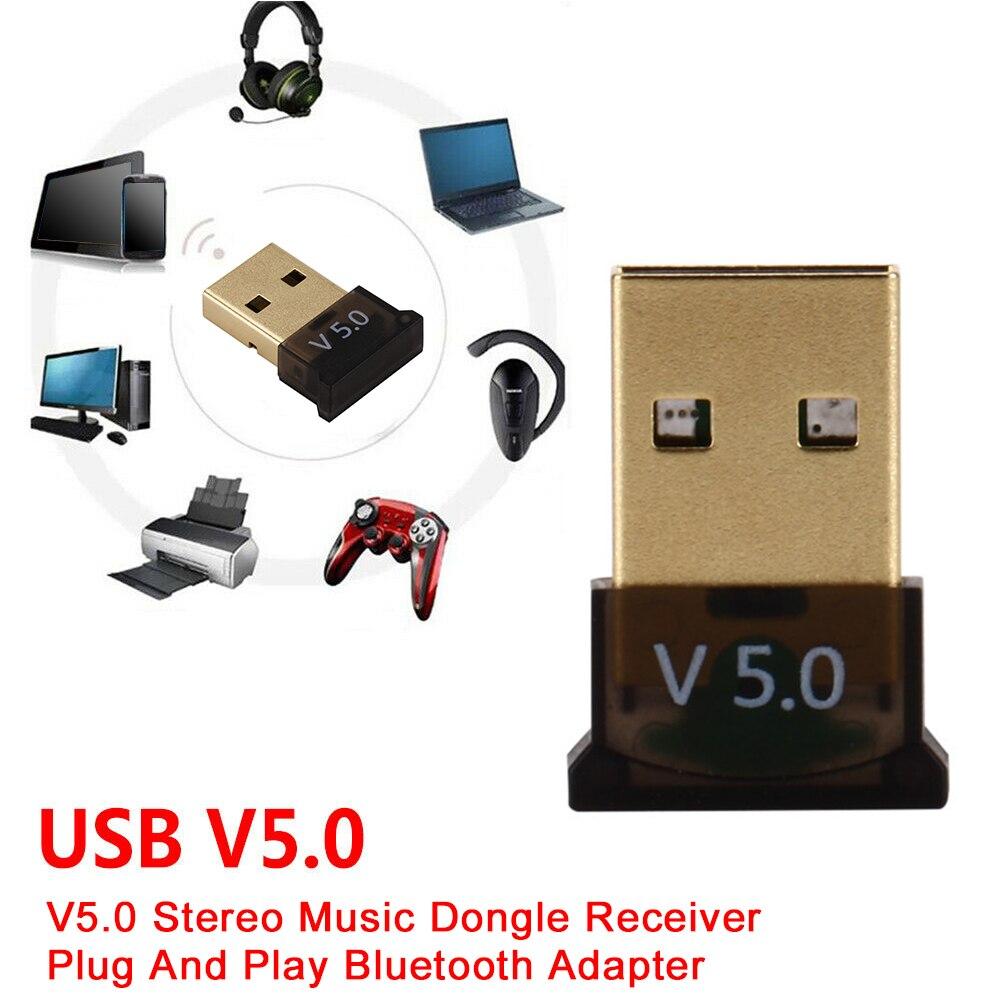 V5.0 adaptador bluetooth sem fio em casa para computador portátil mouse usb universal escritório de alta velocidade estéreo música dongle receptor plug and play