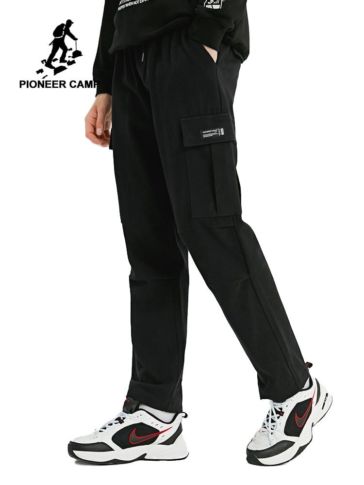 Pioneer Camp Männer Hosen Arbeitsbekleidung Grün Kordelzug Offenen Boden Casual Streeetwear Männer Kleidung Dicke Cargo Hosen AXX902324