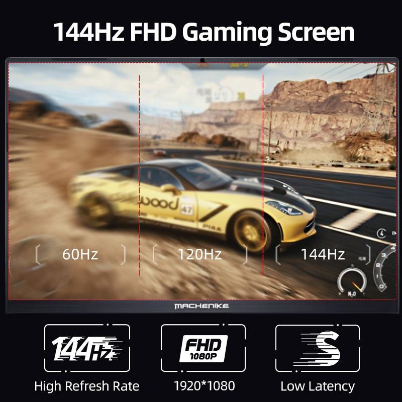 Machenike T58 RTX3060 Gaming Laptop i7 11800H 16G 512G SSD 144Hz 15.6'' WiFi 6 Backlit Keyboard Notebook Computer Windows 10