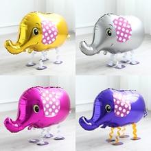 1pc or éléphant ballons marche Animal hélium feuille ballons coloré jungle animal fête anniversaire fête décorations enfants jouets
