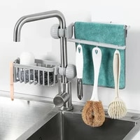 Egouttoir a eponge  salle de bain  cuisine  sechage  robinet  toilettes  evier  aspiration  gain de place  etagere de rangement