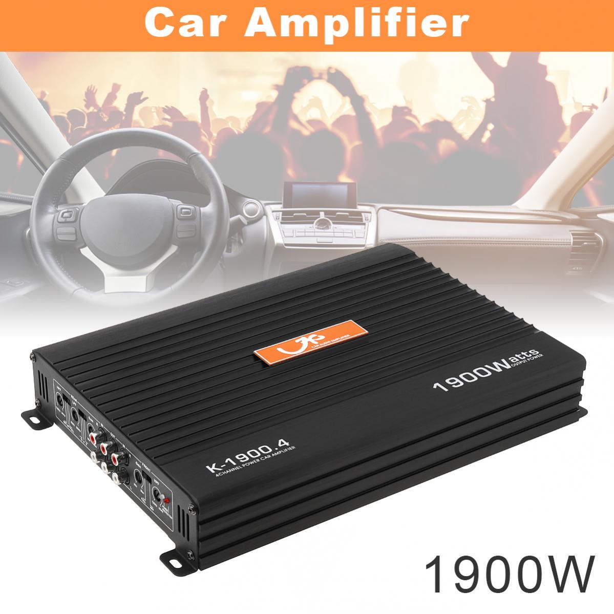1900W Aluminum Alloy High Power Car Amplifiers 4 Channel Mini HiFi Stereo Audio Class AB Amp Bass For Speaker