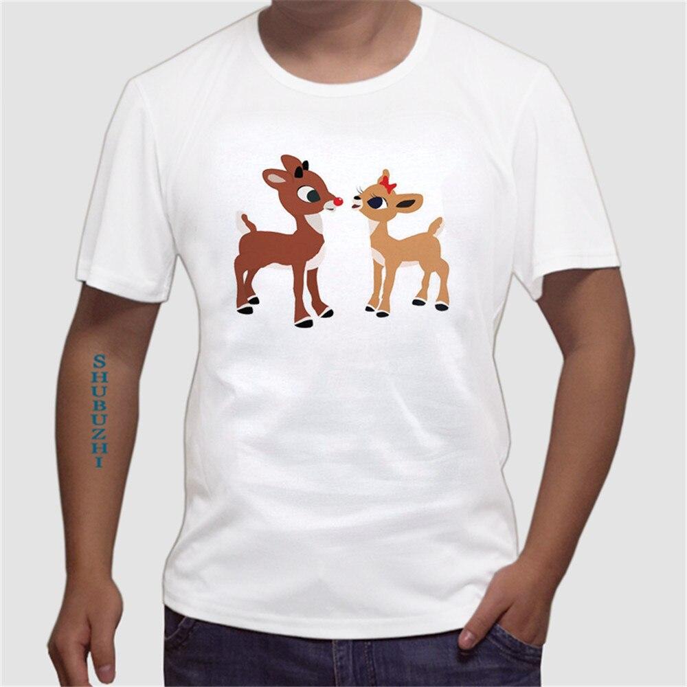 Tshirt Hip Hop Starnger Coisas teeshirt Rena Rudolph O Psicopata T Shirt Engraçado Do Natal Xmas Tee camisa tamanho euro