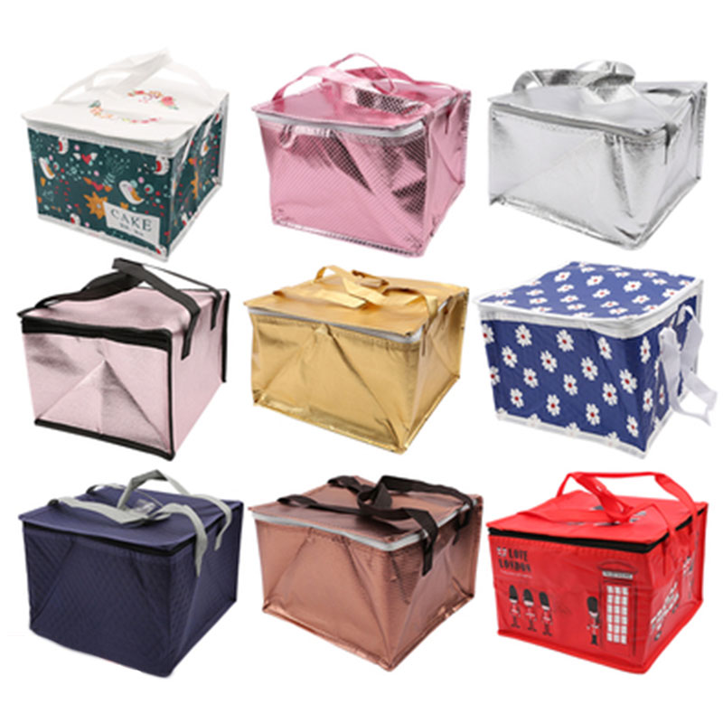 "Bolsa térmica de 6/8/10/12 ""bolsa aislante para llevar pasteles bolsa de aluminio engrosada almacenamiento en frío entrega refrigerada"