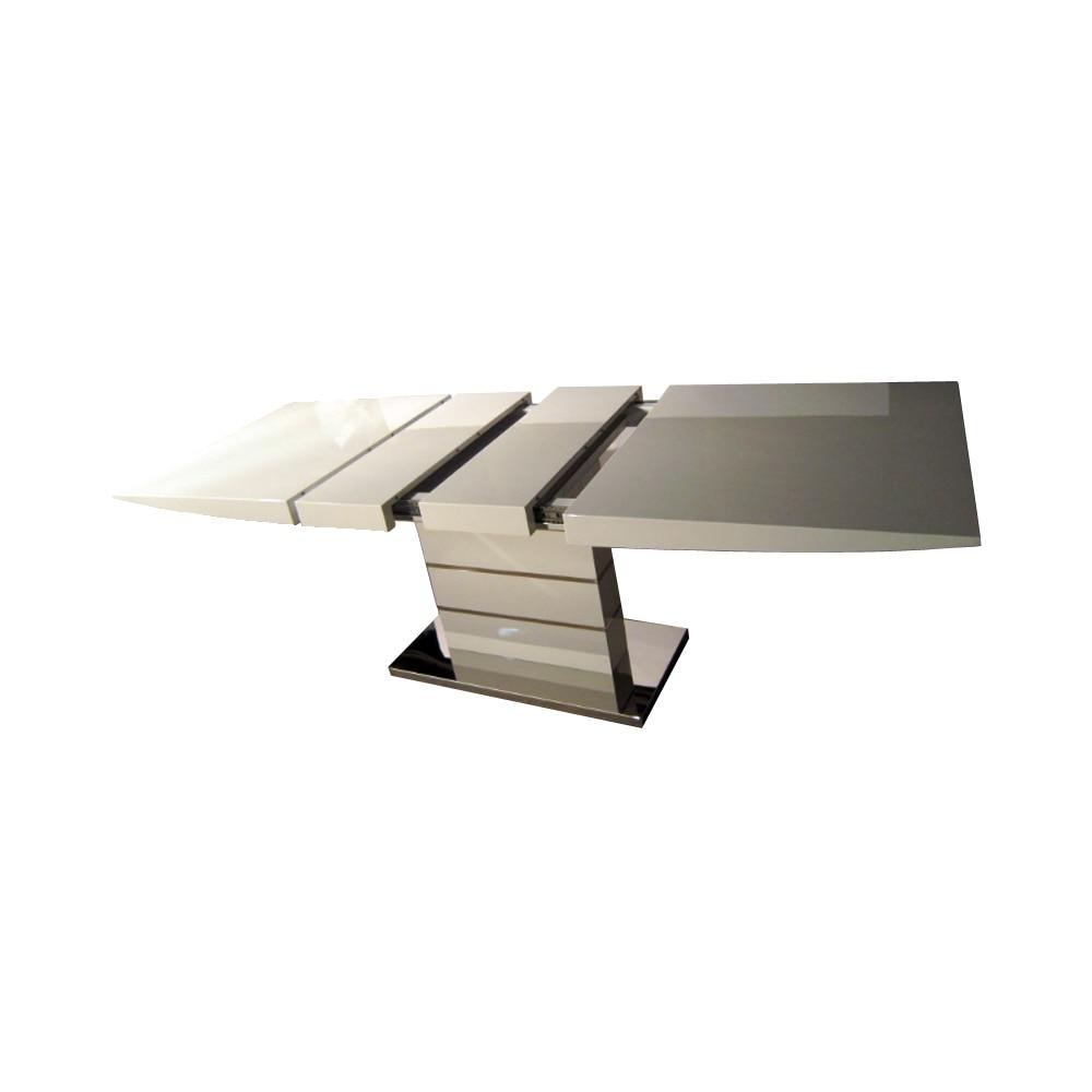 طاولة طعام comedor sillas دي ميسا comedor موبليس دي مادرا جانتار أبيض لامع خشبي طاولة قابلة للطي الشمال 160/190/220 سنتيمتر