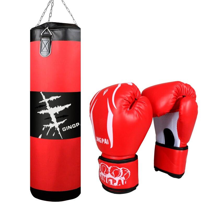Хит, 100 см Оксфордский боксерский Песочник, боксерские перчатки из искусственной кожи, мешок для штамповки песка, тренировочный подвесной П...
