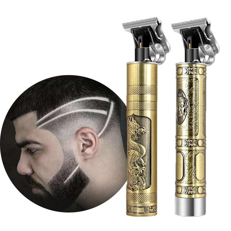 Cortapelos sin cuerda Kemei de 0 mm para tallar, recortador de cabeza calva, rascador de afeitado, máquina de acabado de corte de pelo corto