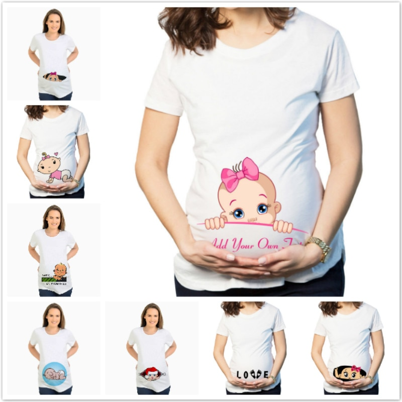 AliExpress - Women's T-Shirts Cartoon Maternity Tops Baby Funny Pregnancy T Shirts Short Sleeve T-shirts for Pregnant Women Tees S-3XL
