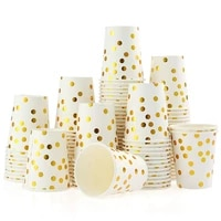 10pcs disposable paper cups rose gold birthday party decorations adult gold foil drink cup for baby shower bachelorette party