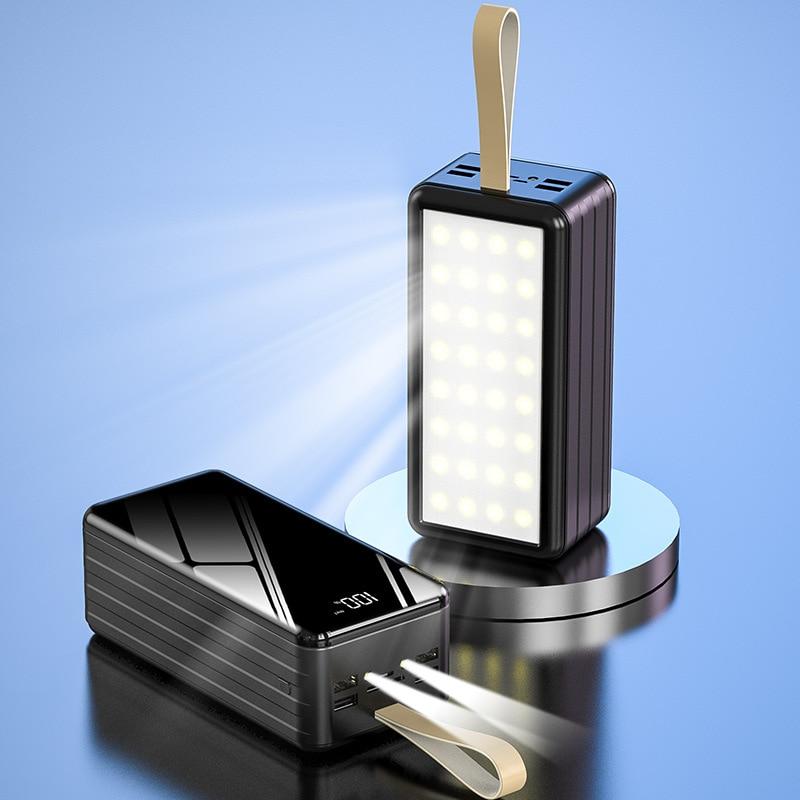 قوة البنك 60000 mAh المحمولة شحن Poverbank الهاتف المحمول البطارية الخارجية شاحن تجدد Powerbank 60000 mAh ل Xiaomi فون 12 X