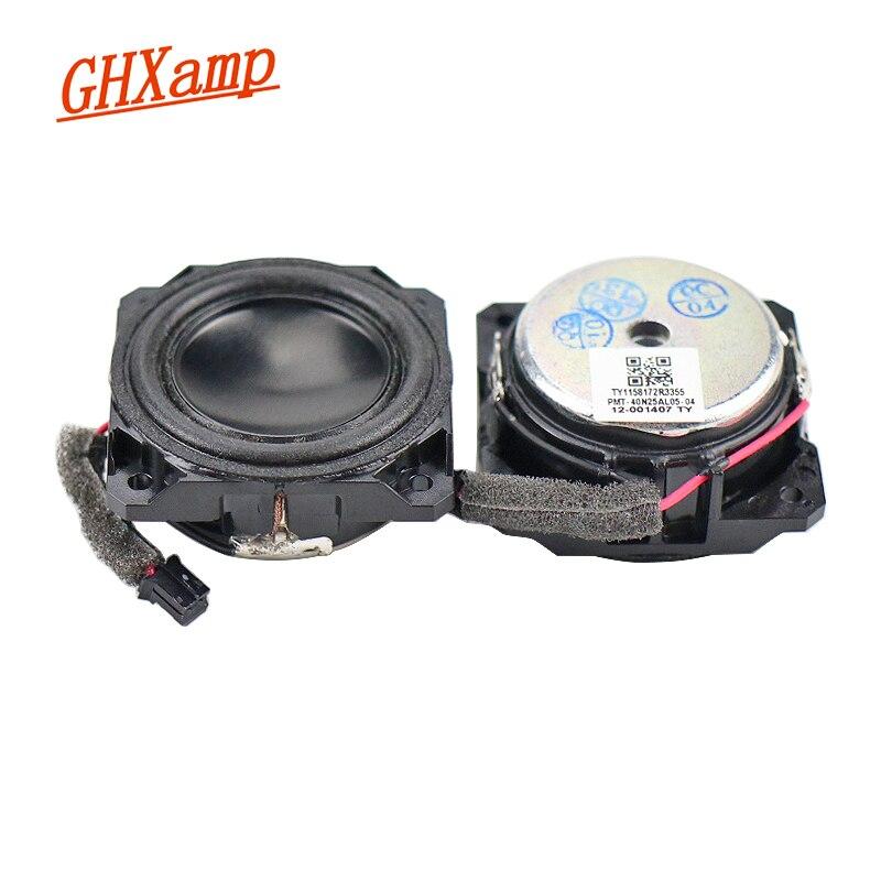 GHXAMP 1,5 дюйма 4 Ом 5 Вт полный спектр мини-динамик анодированный Неодимовый Bluetooth динамик s человеческий голос теплый натуральный DIY 1 пара