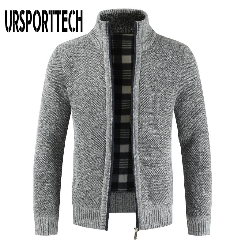 Men's Sweater Coat Autumn Winter Warm Thick Knitted Sweater Jackets Cardigan Coats Male Clothing Casual Knitwear Fleece Jackets