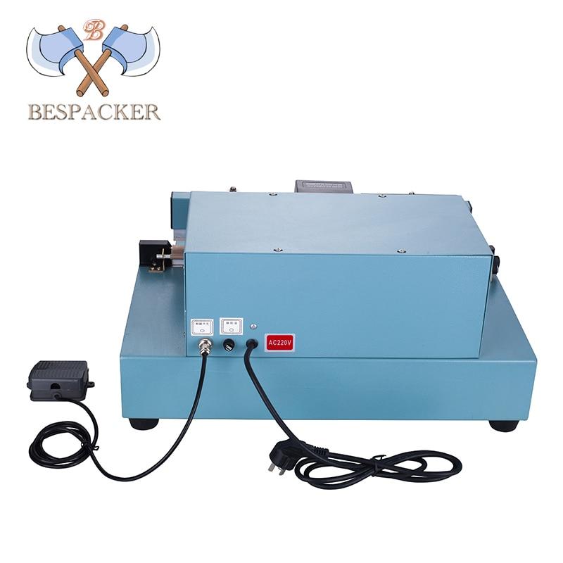 Bespacker FKR-450 Semi Auto Heat Pedal Aluminum Food Sugar Plastic Bag Foot Impulse Cutter Sealer Sealing Machine enlarge