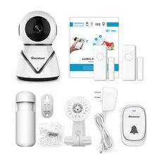 Alarm System Kit Home Security Tür Sensor Ip Kamera Pir Infrarot Detektor Motion Sensor Wireless WIFI Türklingel GSM APP Control