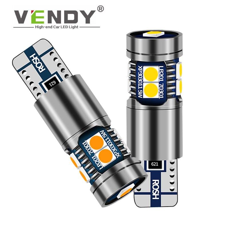 1 Uds. Luz LED de distancia para coche Canbus W5W T10, bombilla de luz de ancho para volvo xc90 s60 s80 s40 v50 v40 v70 xc70 vw polo golf passat