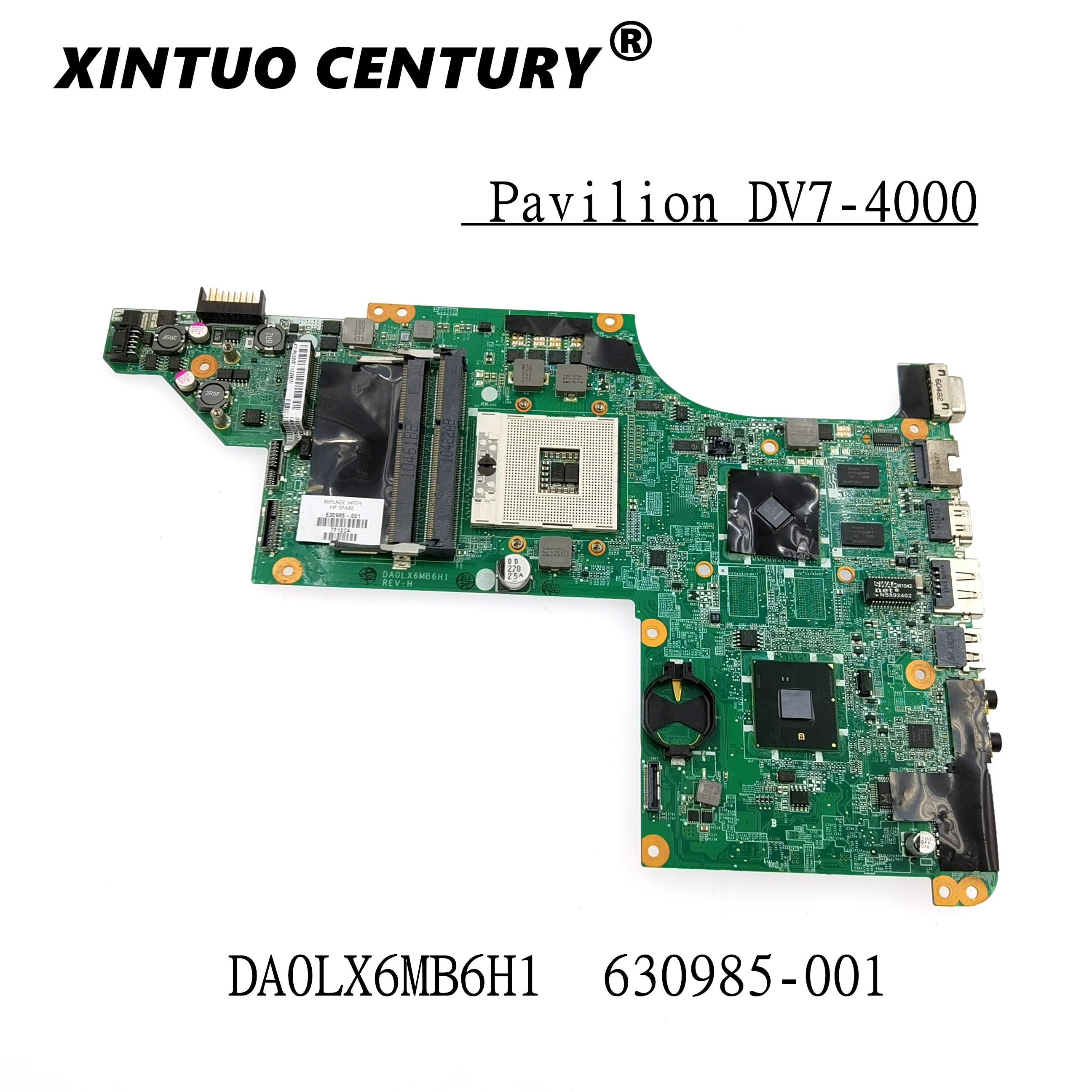 630985-001 630985-501 para HP pabellón DV7-4000 placa base de computadora portátil DA0LX6MB6H1...