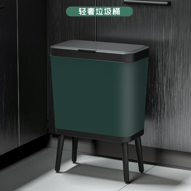 Luxury Kitchen Trash Can with Lid Food Waterproof Bedroom Large Trash Can Living Room Kosz Na Smieci Household Products DF50LJ enlarge