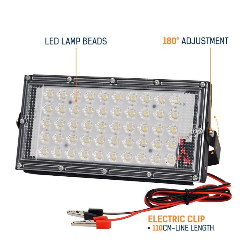 Floodlight Outdoor Spotlight 50W Wall Washer Garden Lamp Reflector IP65 12V Y98E