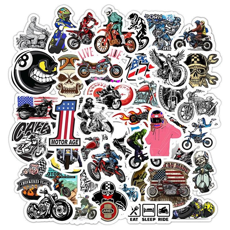 Pegatina de graffiti para montar en moto todoterreno casco a la moda personalidad parachoques deslizante vehículo eléctrico automotriz sticke