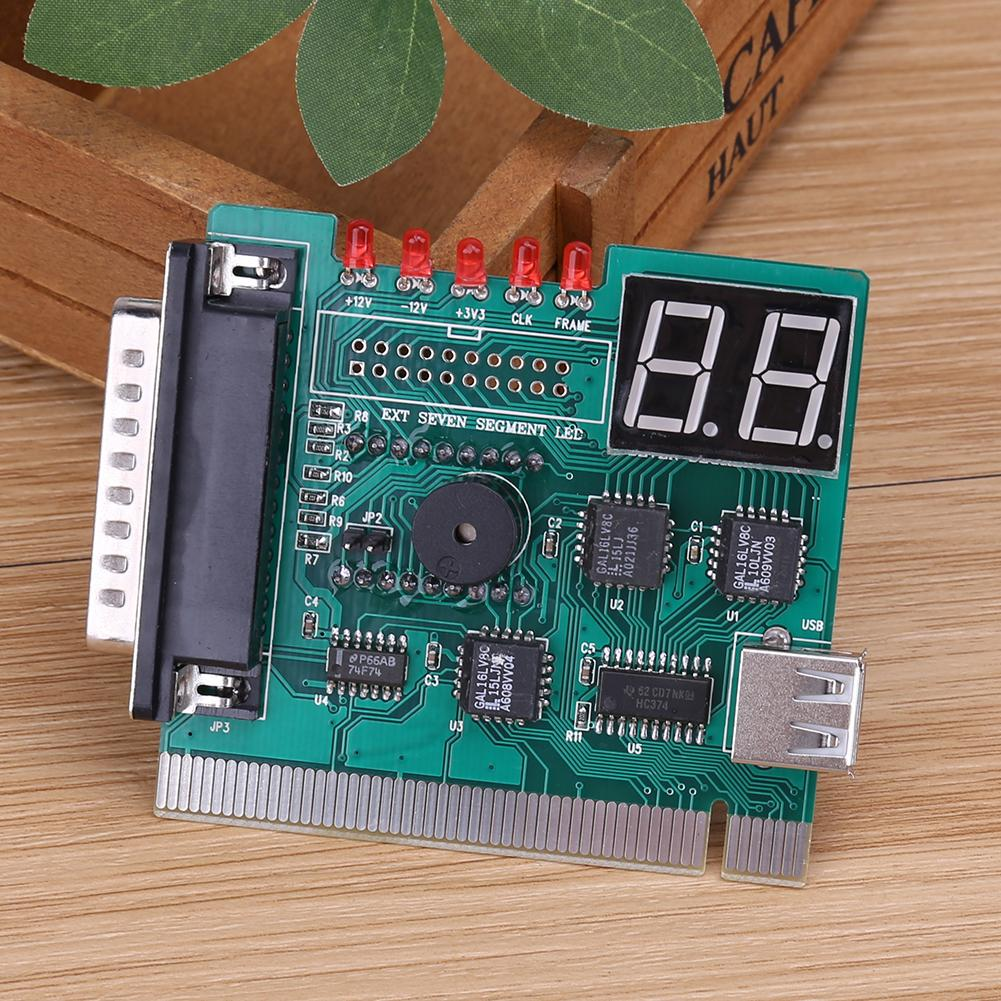 1pcs Motherboard Diagnostic Analyzer POST Card with 2 Digit error code display in USB PCI PC  for Laptop PC Test and analyze