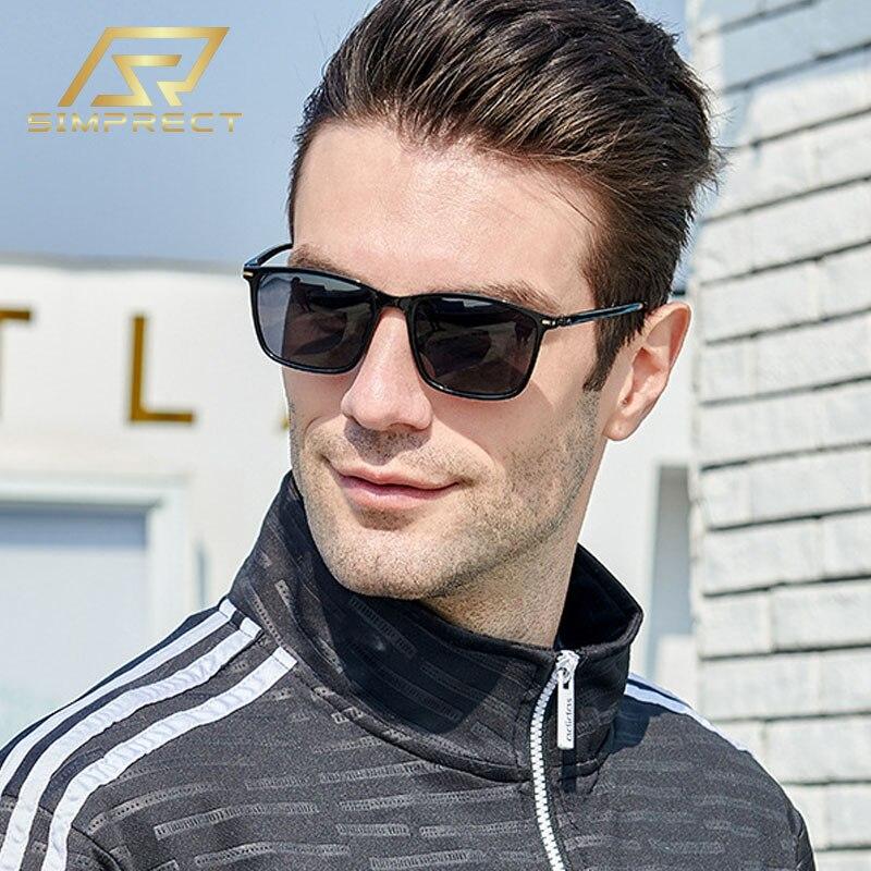 AliExpress - SIMPRECT 2021 Polarized Sunglasses Men UV400 High Quality Elasticity TR90 Anti-glare Driving Vintage Retro Square Sun Glasses
